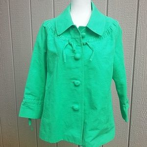 Kate Spade green jacket size size large